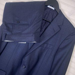 Hickey Freeman Milburn II 2pc. 100% Wool Suit Navy